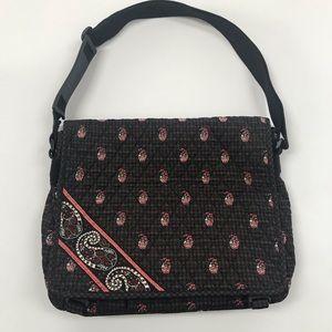 Vera Bradley Houndstooth Brown Messenger Bag
